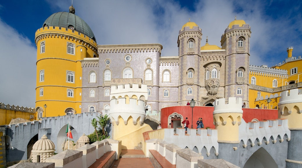 Pena Palace which includes heritage elements and a castle