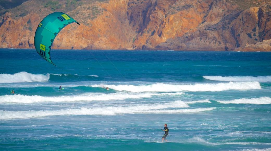 Guincho Beach showing rugged coastline, general coastal views and surf