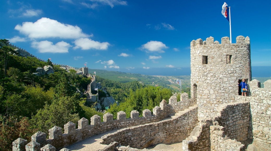 Moorish Castle which includes a castle, tranquil scenes and heritage elements