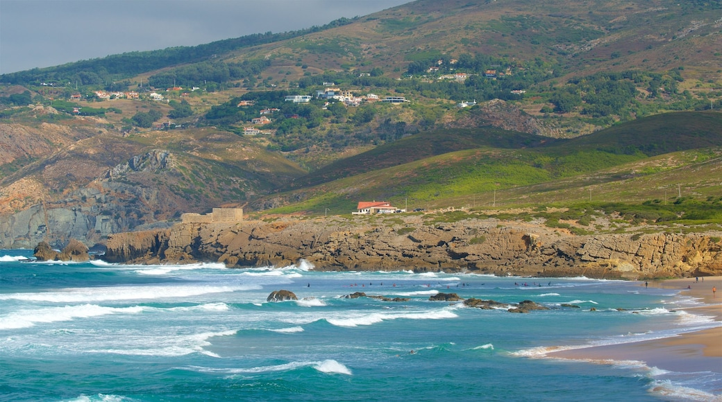 Guincho Beach featuring general coastal views, tranquil scenes and waves