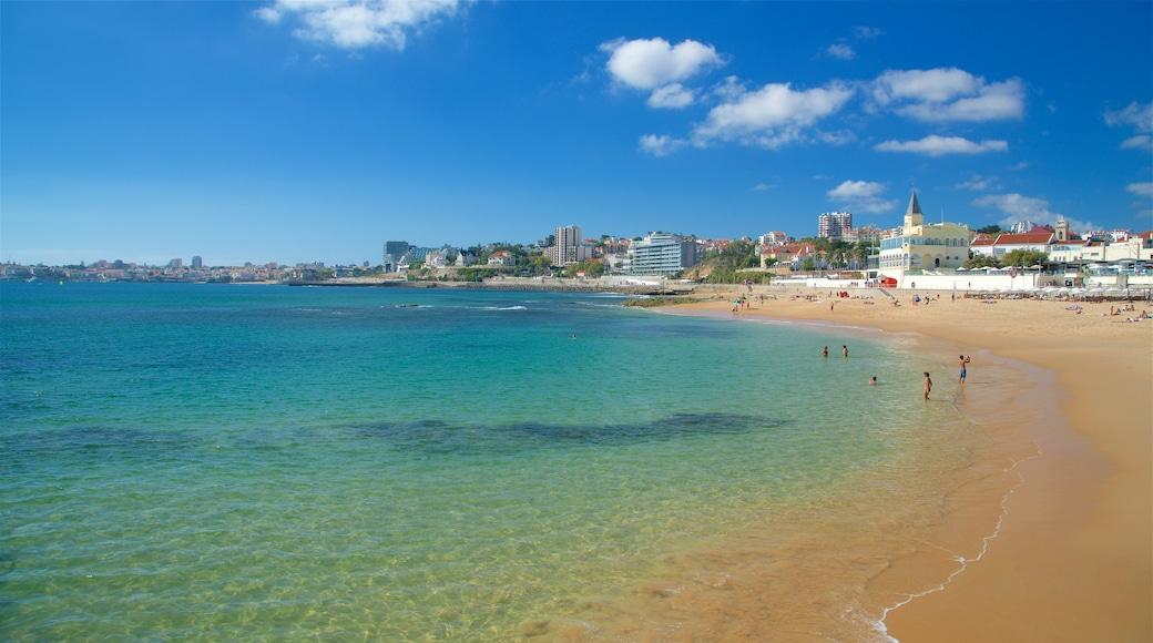 Spiaggia di Tamariz che include spiaggia, vista della costa e nuoto