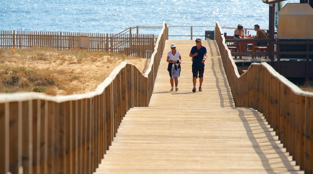 Salgados Beach featuring a bridge and general coastal views