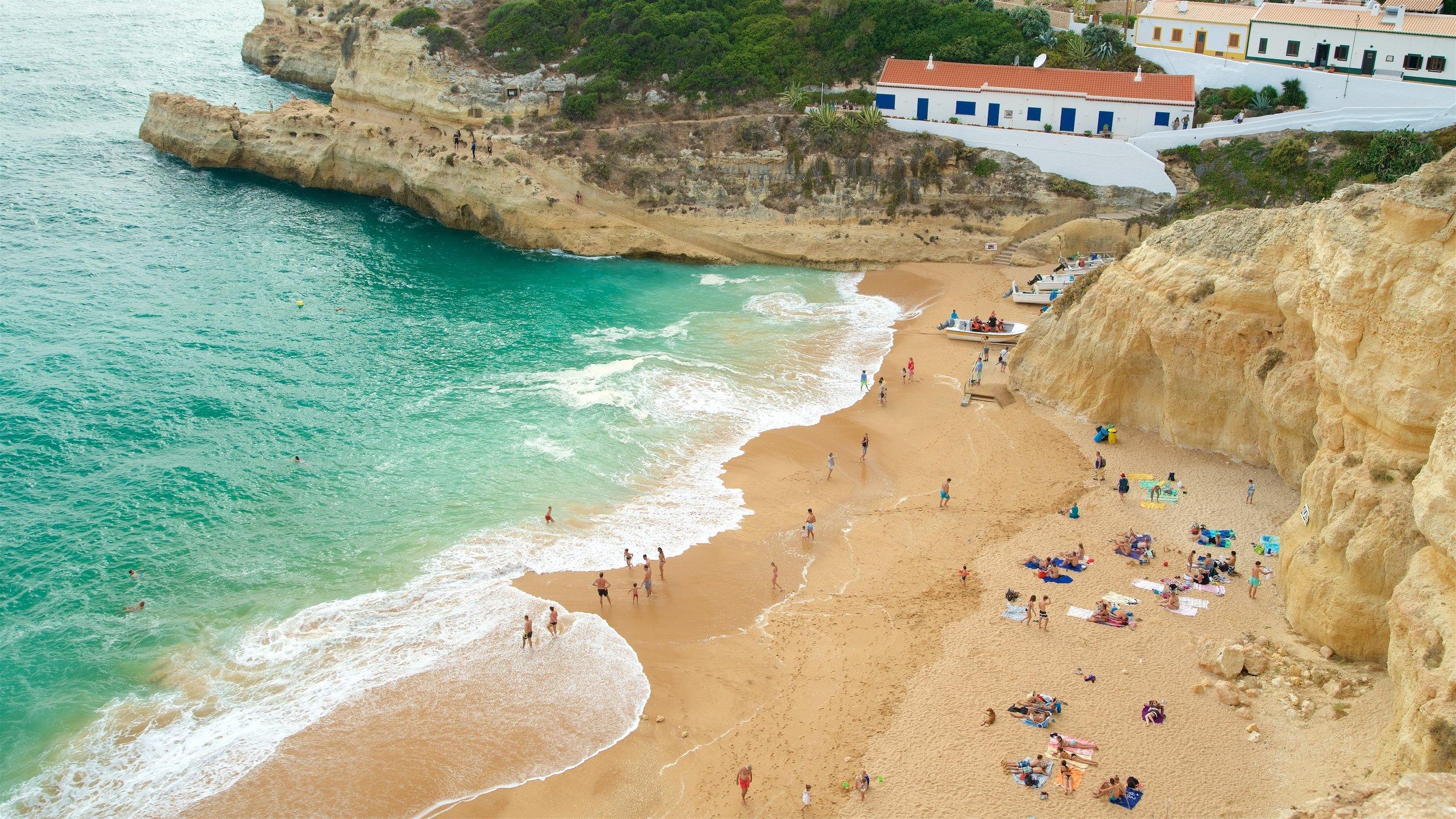 Benagil Strand, Carvoeiro, Faro-distriktet, Portugal