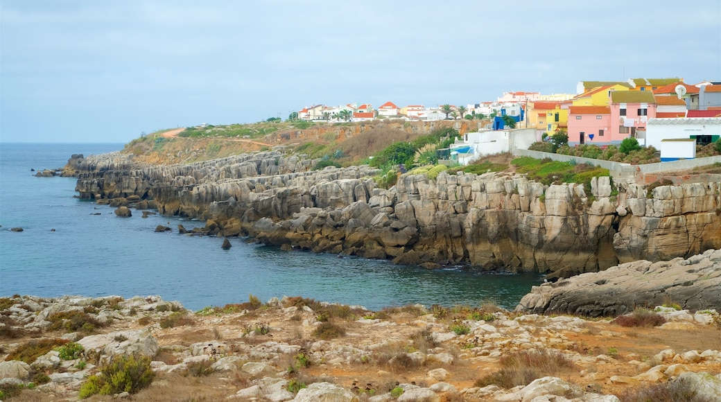 Peniche which includes rugged coastline, general coastal views and a coastal town