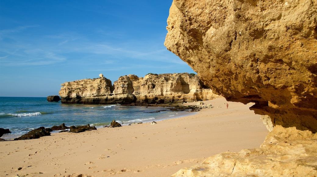 Sao Rafael Beach featuring general coastal views, a sandy beach and rugged coastline