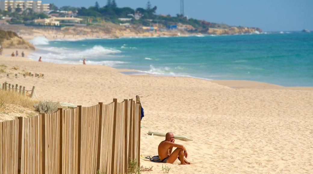 Salgados Beach featuring general coastal views and a sandy beach as well as an individual male