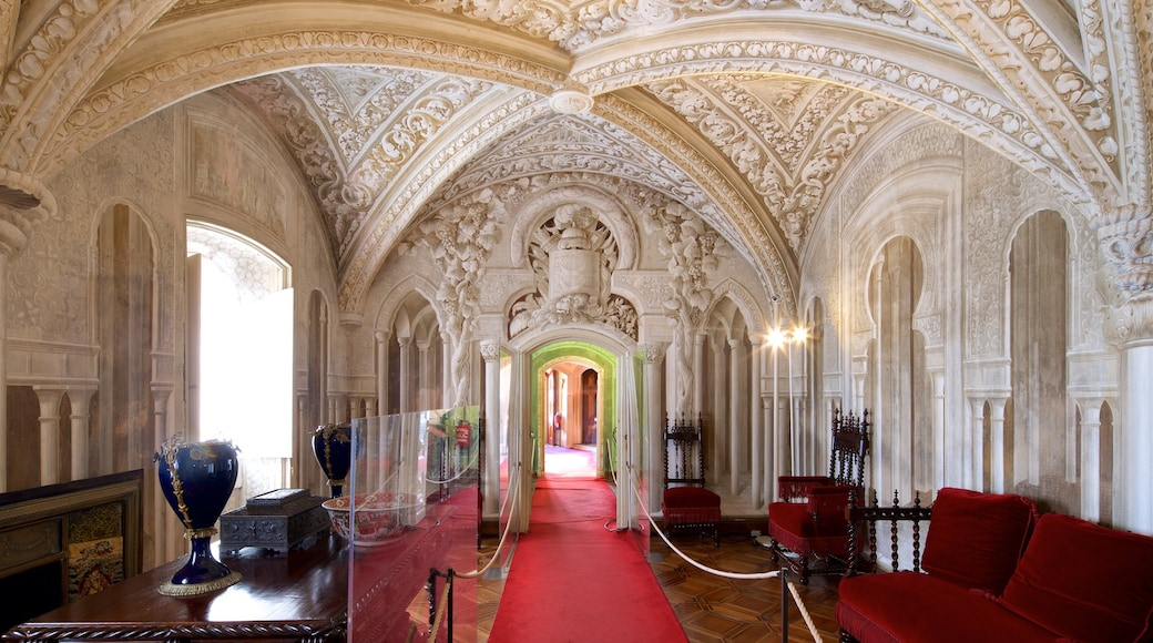 Pena Palace showing heritage elements and interior views