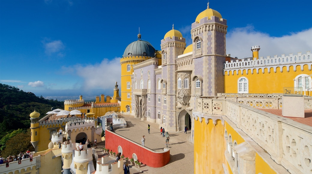 Pena Palace which includes heritage elements and château or palace