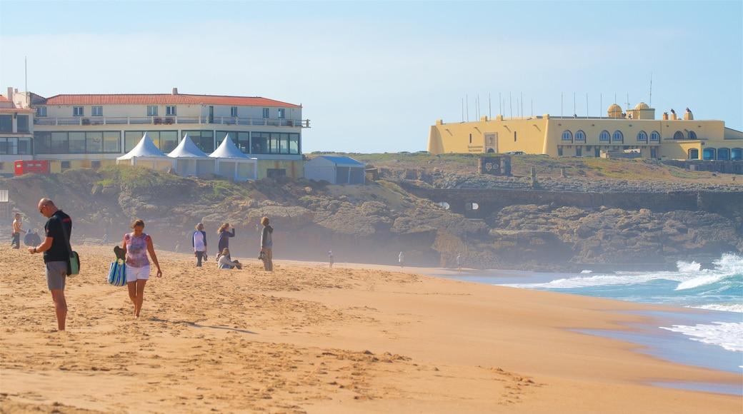 Guincho Beach featuring general coastal views, a beach and a coastal town