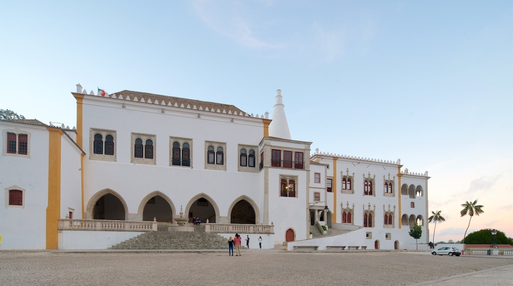Sintra National Palace featuring a square or plaza