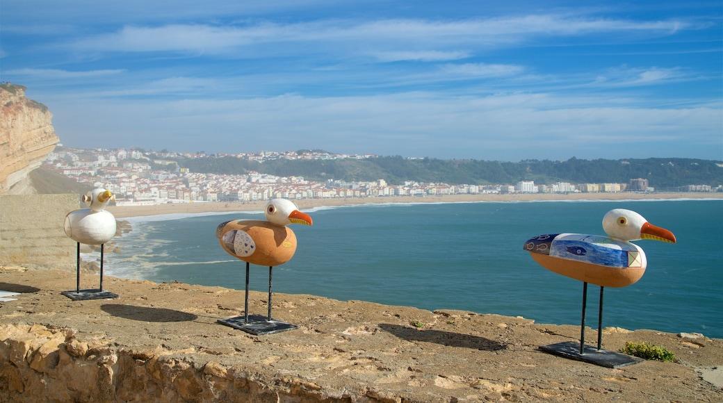 Nazaré mit einem allgemeine Küstenansicht und Küstenort