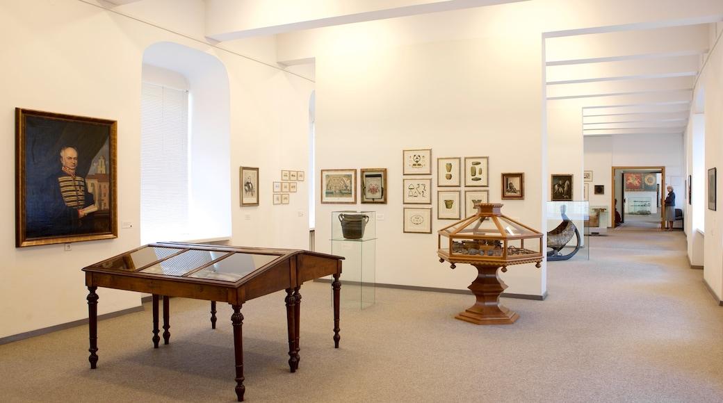 Liettuan kansallismuseo joka esittää sisäkuvat
