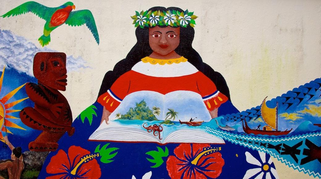 Rarotonga featuring outdoor art