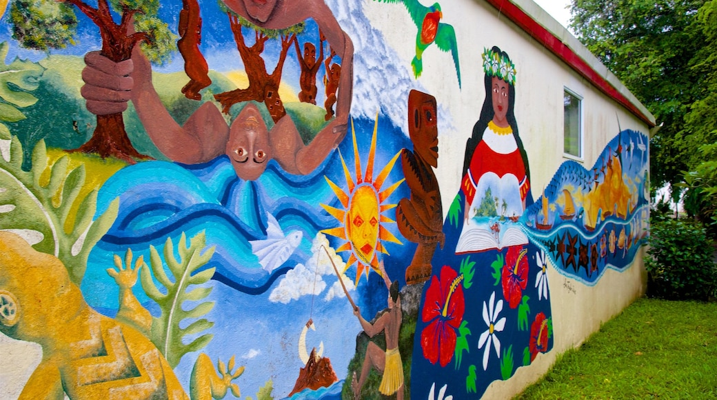 Rarotonga showing outdoor art