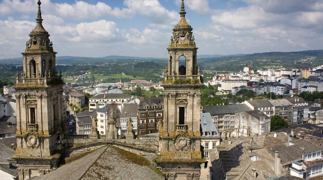 Lugo which includes heritage elements and a city