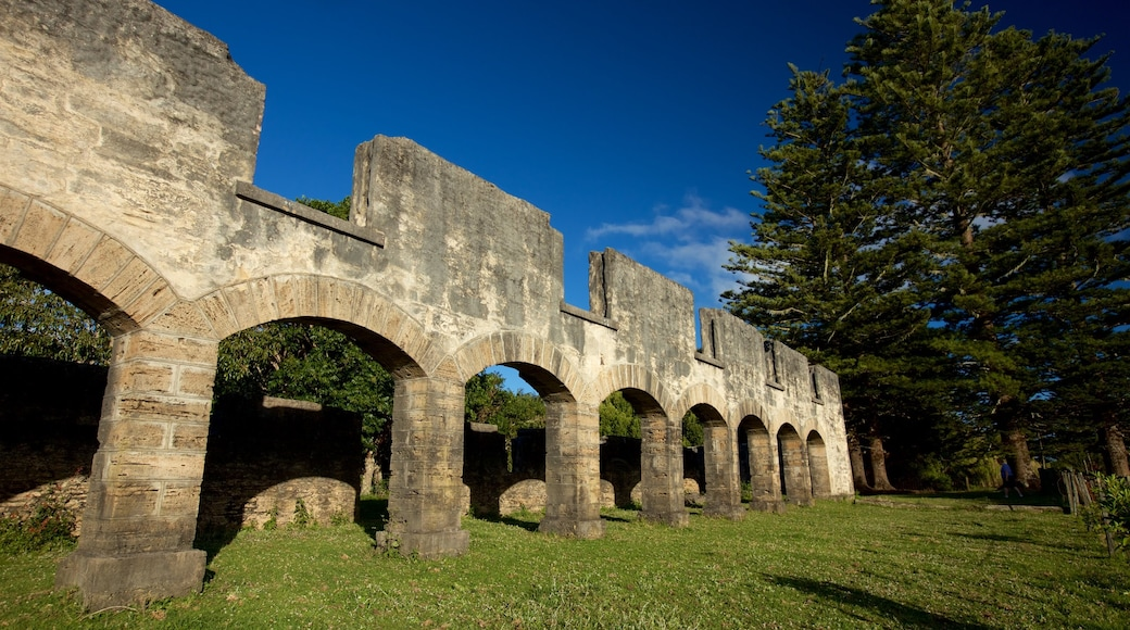 The Arches showing building ruins and heritage elements