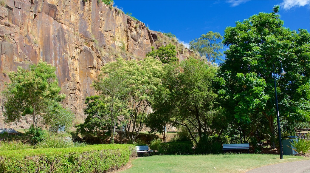 Kangaroo Point Cliffs which includes a garden
