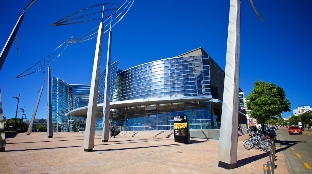 Christchurch Art Gallery que incluye arquitectura moderna