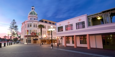 Napier featuring a sunset and a square or plaza