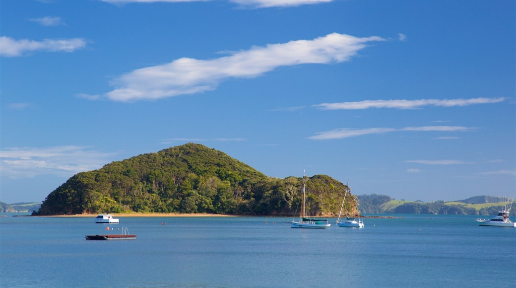 Paihia featuring a bay or harbour