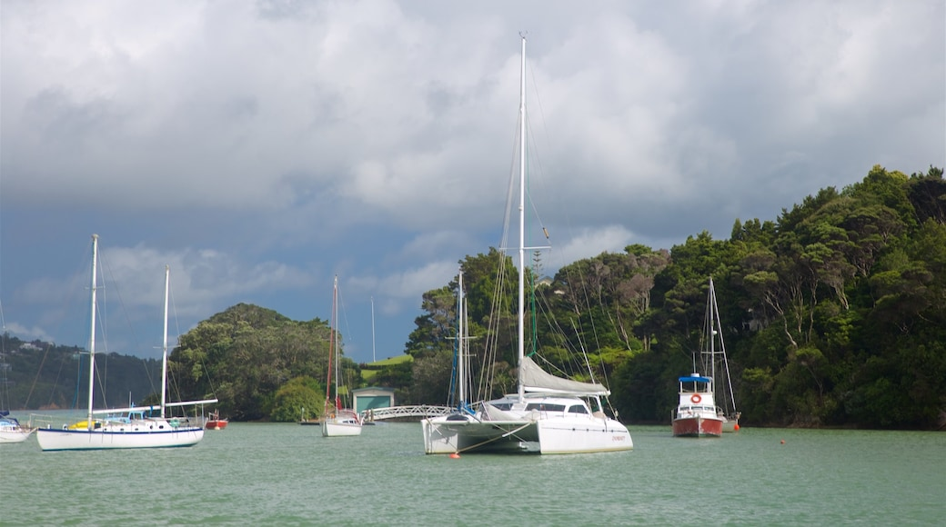 Okiato which includes a bay or harbour