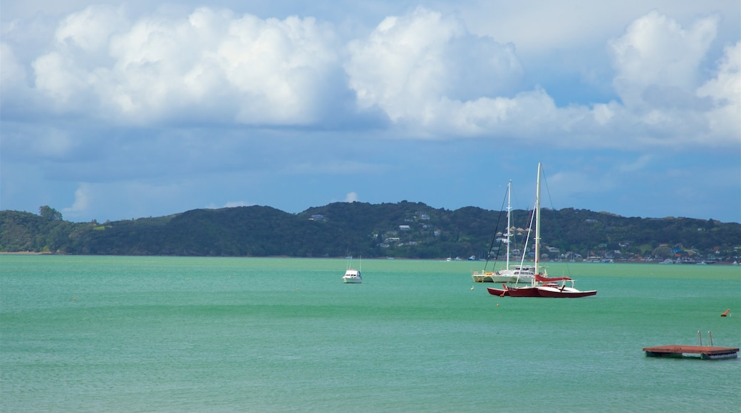 Paihia Beach featuring boating and a bay or harbour