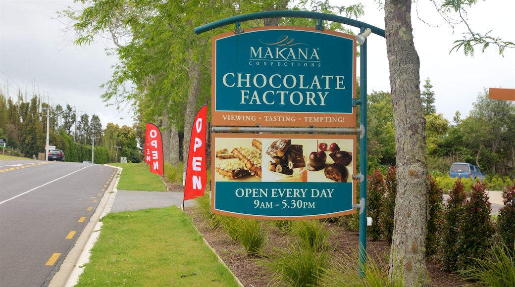 Makana Confections showing signage