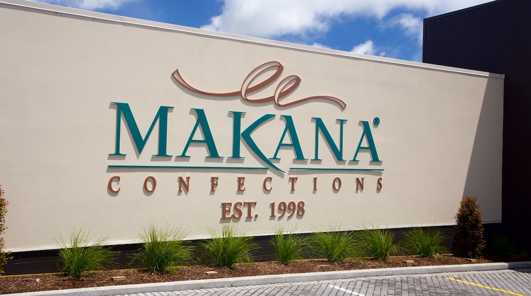 Makana Confections which includes signage