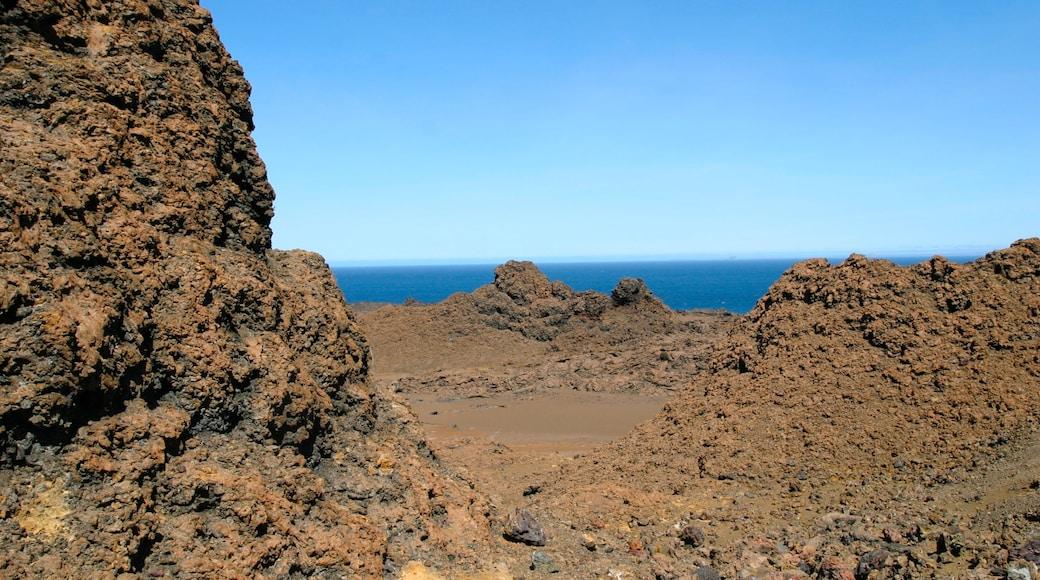 Bartolome Island which includes general coastal views and rugged coastline