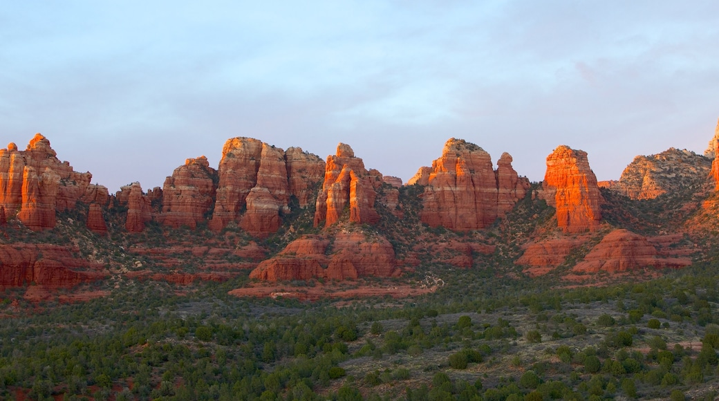 Sedona which includes a gorge or canyon, landscape views and tranquil scenes