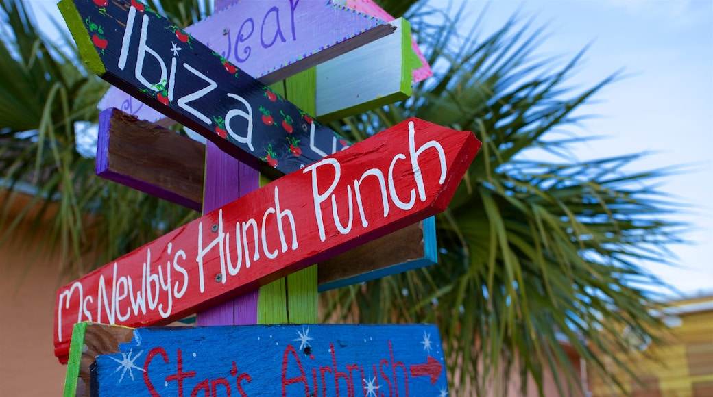 Panama City Beach which includes signage