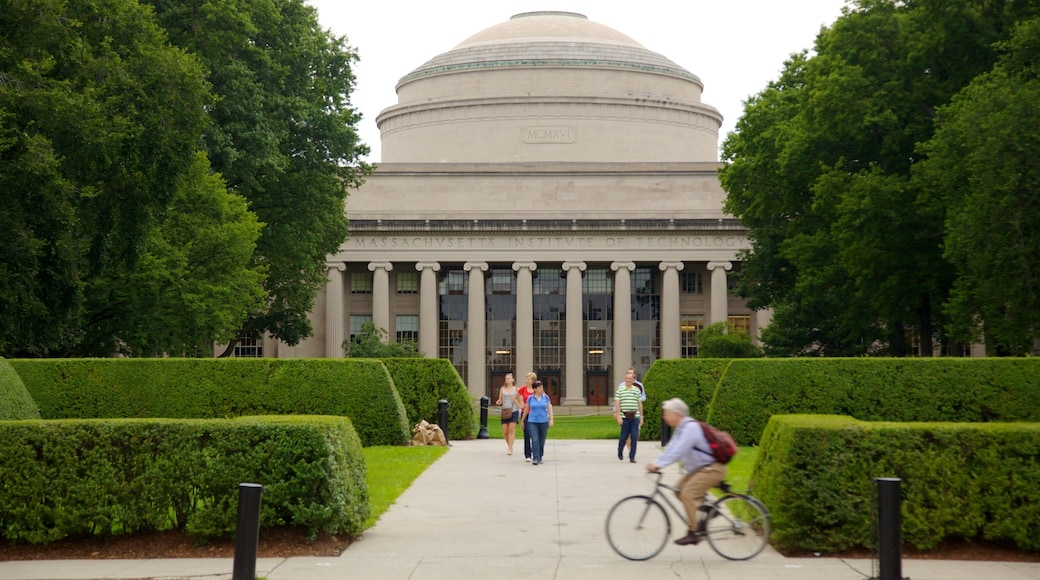 Massachusetts Institute of Technology featuring a park as well as a small group of people