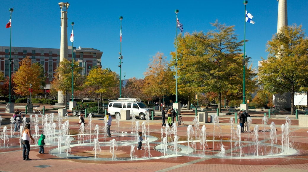 Centennial Olympic Park which includes a fountain