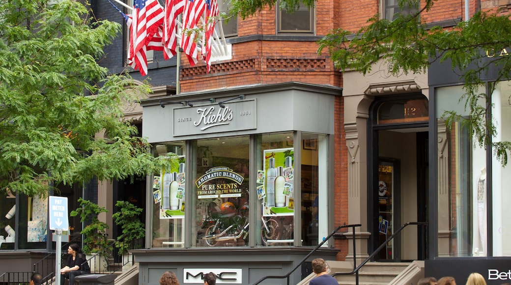 Newbury Street which includes signage