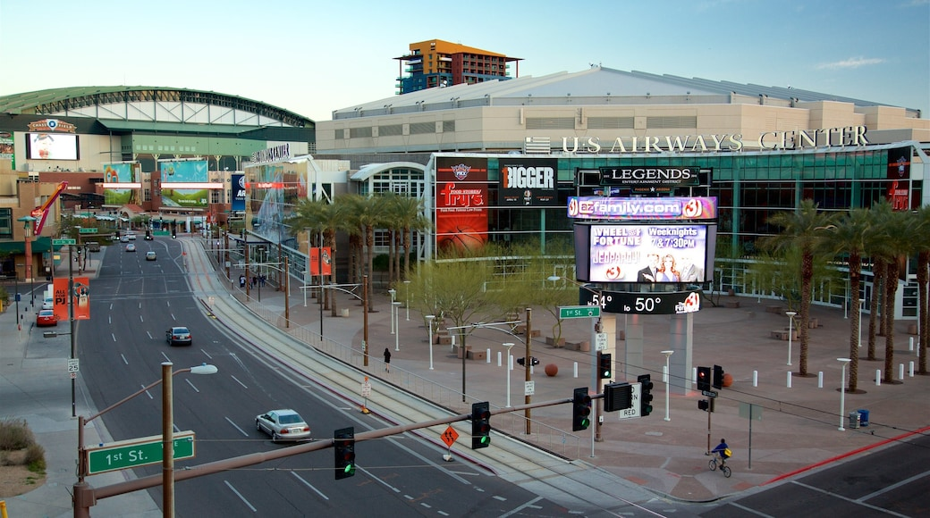 Downtown Phoenix featuring signage