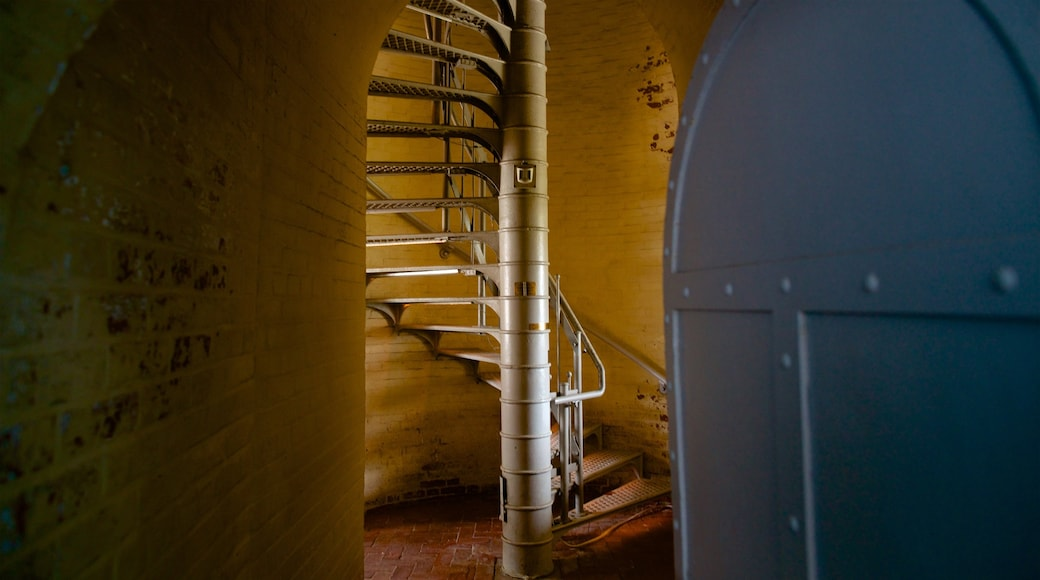 Absecon Lighthouse which includes interior views and a lighthouse