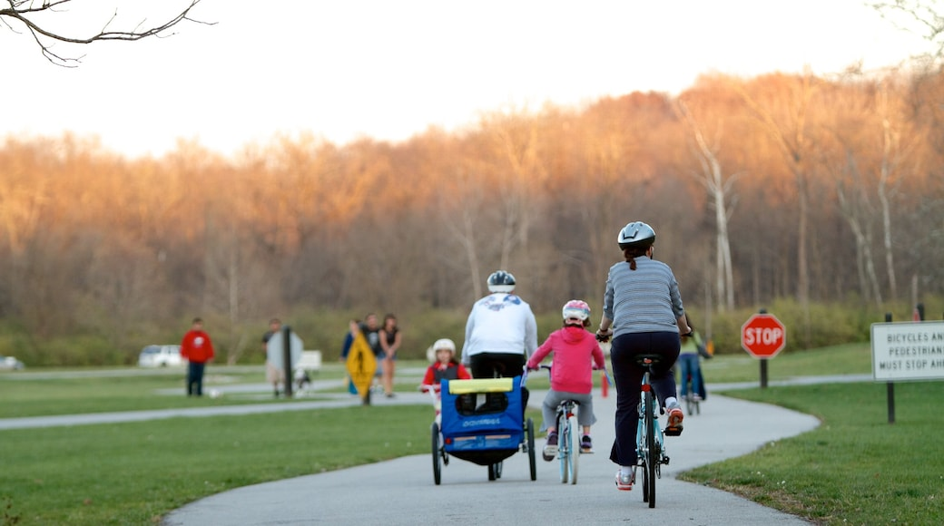 Fort Harrison State Park which includes a park and road cycling as well as a family