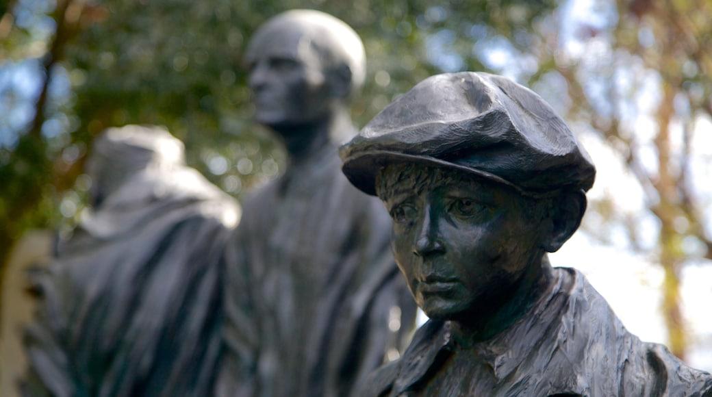 Desert Holocaust Memorial featuring a statue or sculpture