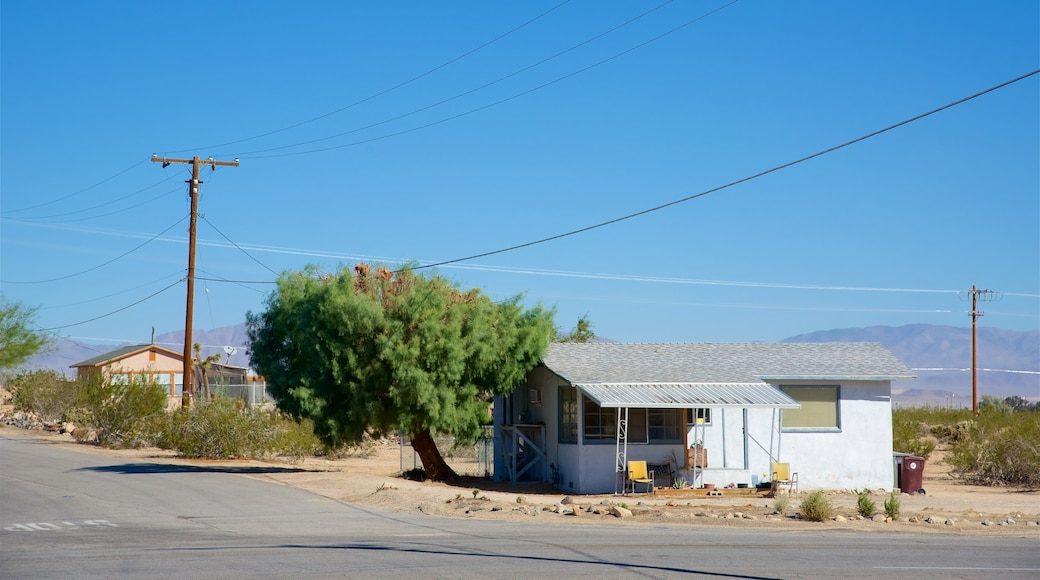 Twentynine Palms which includes a house and a small town or village