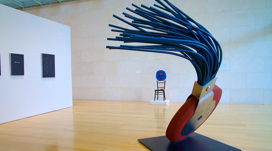Nasher Sculpture Center featuring interior views and art