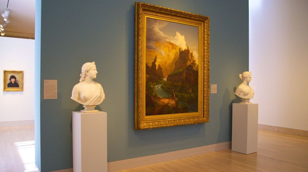 Dallas Museum of Art showing interior views and art