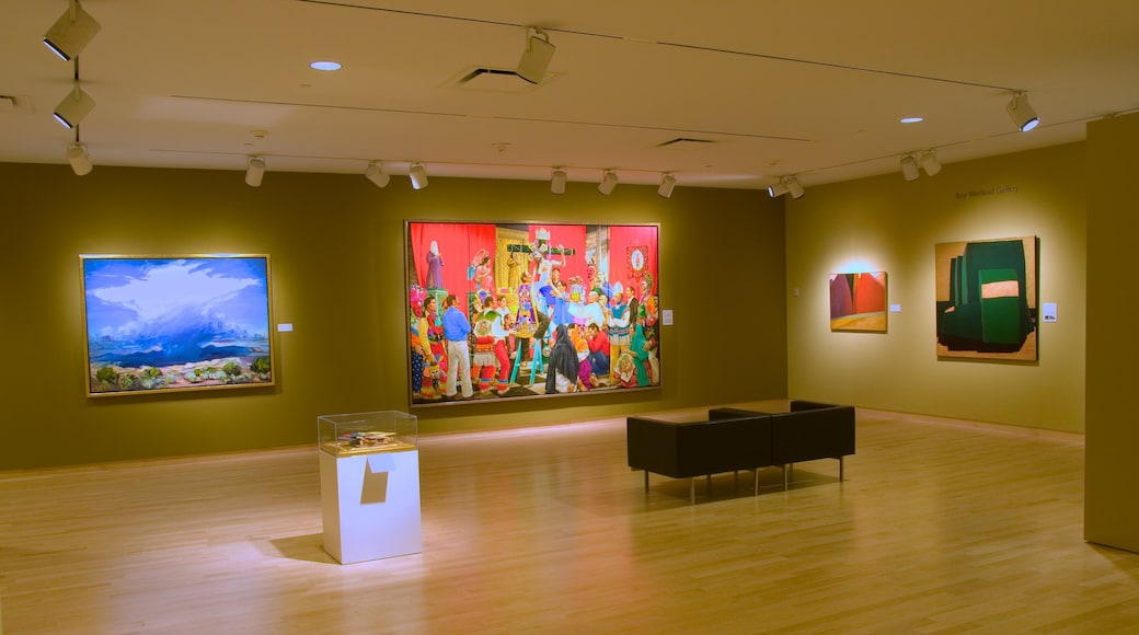Phoenix Art Museum showing interior views and art