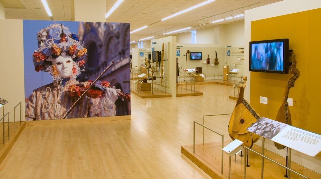 Musical Instrument Museum which includes music and interior views