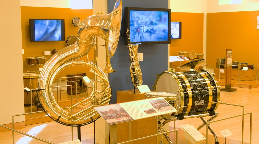 Musical Instrument Museum which includes interior views and music