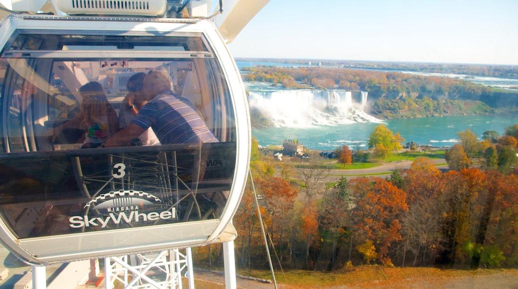 Niagara SkyWheel showing a cascade, a gondola and autumn leaves