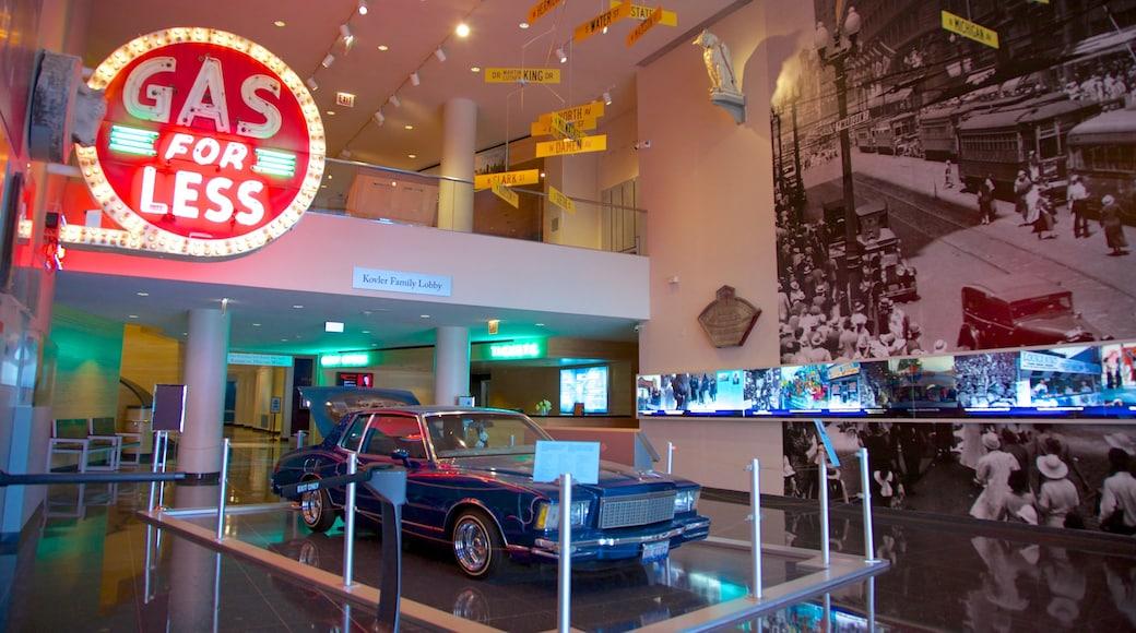 Chicago History Museum que inclui sinalização e vistas internas