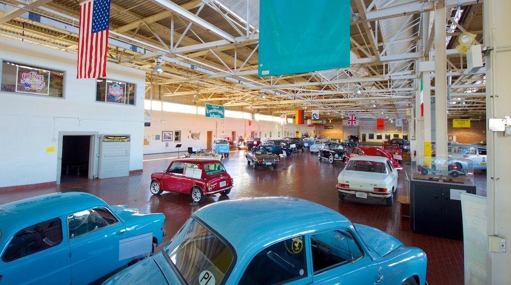 Lane Motor Museum showing interior views