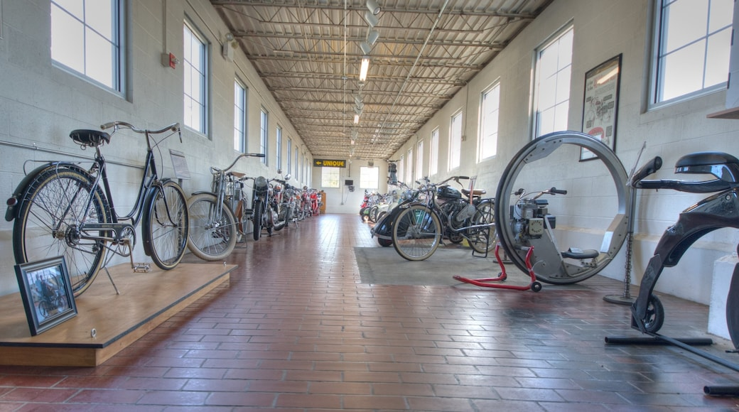 Lane Motor Museum featuring interior views