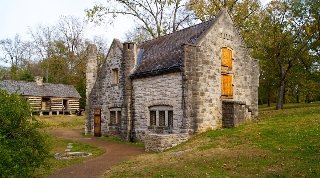 Belle Meade Plantation featuring a house and heritage architecture