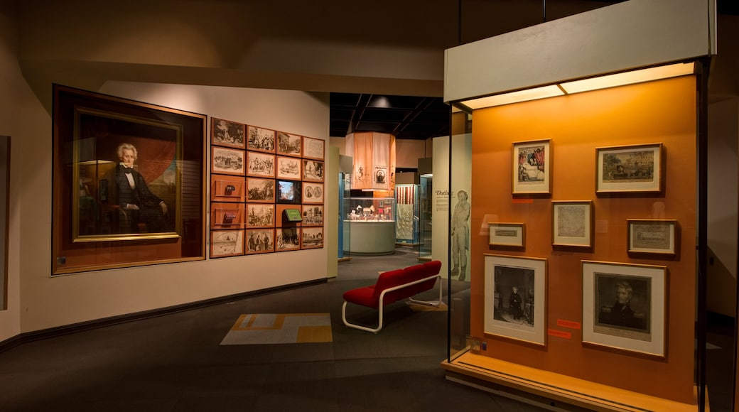 Tennessee State Museum featuring interior views